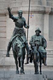 StatuesDonQuixoteSanchoPanzaMadrid
