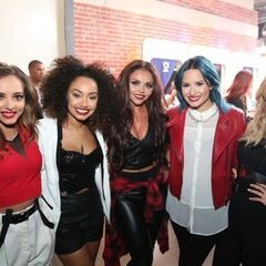 Demi with Little Mix at <a href=