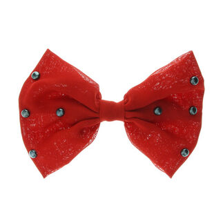 £4.50<br />  - Large chiffon bow clip. <br /> - 80% Polyester, 20% Metal.  <br />- Dimensions: W 120mm.