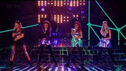 Little Mix do their best Rihanna - The X Factor 2011 Live Show 5 - itv
