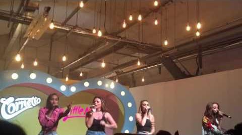 Little Mix Cornetto gig Little Me