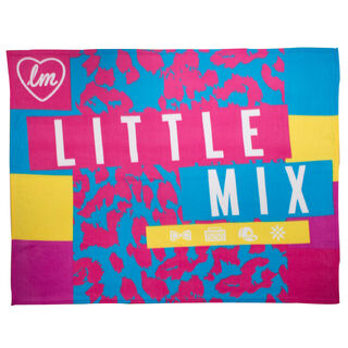 £14.00 <br />- Online Exclusive  <br />- Little Mix rectangular fleece blanket <br /> - Machine wash cold, tumble dry low  <br />- Dimensions: H 127cm x W 152cm <br />- 100% Polyester