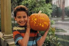 Tenzing and pumpkin