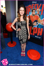Laura at the Wreck-It Ralph premiere