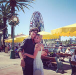 Joey-bragg-audrey-whitby-disneyland-august-10-2013