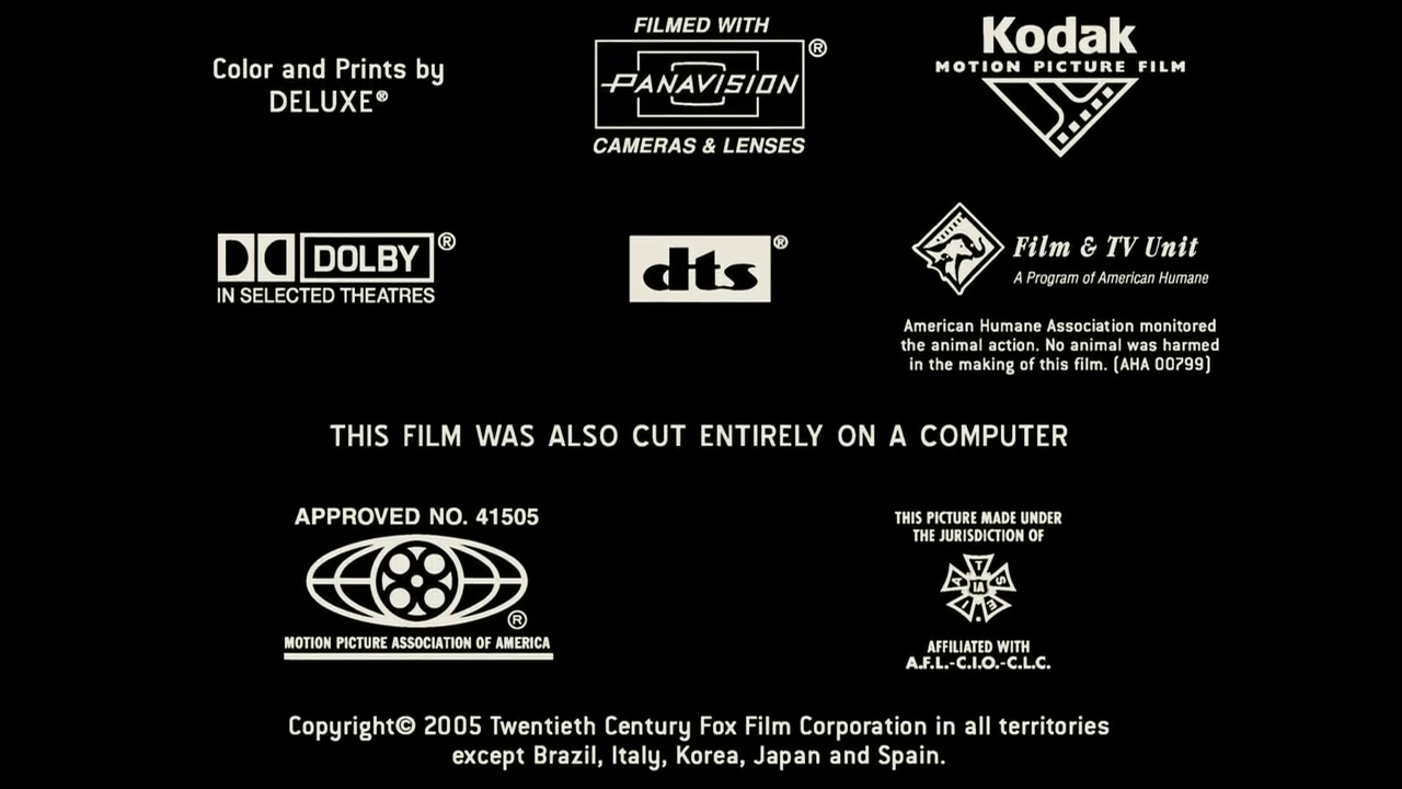 Mpaa Credits: Kodak Motion Picture Film