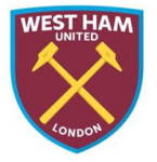 New West Ham United FC logo (claret, blue and gold v1)