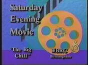 WBRC Channel 6 Saturday Night Movie The Big Chill promo 1990