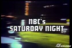NBC's Saturday Night Video Open From October 11, 1975