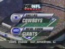 FOX Sports' NFL On FOX, Dallas Cowboys Vs. New York Giants Video Open From Sunday Afternoon, October 5, 1997