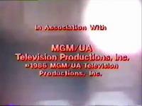 MGM Television Productions 1986 In-credit