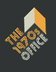 1970s office logo on black