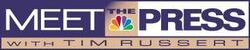 Tv nbc meet the press with tim russert logo