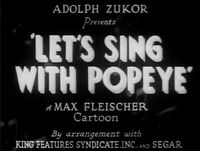 Let'sSingWithPopeye