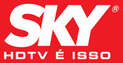 Sky logo with red background