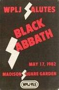 WPLJ-FM's 95.5's Salutes Black Sabbath, Live In Concert At Madison Square Garden Promo For May 17, 1982