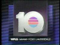 WPLG TV Miami, Florida 5 30 News Open 1988