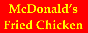 McDonald's Fried Chicken 1982