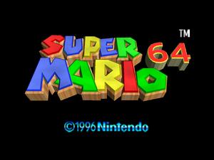 Super Mario 64 Title 4x3