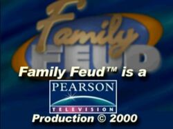 Family Feud Pearson Television Copyright from 2000
