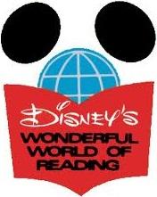 Disneys wonderful world of reading logo