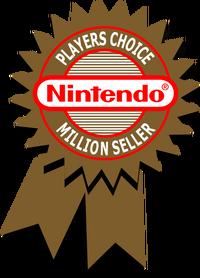 Nintendo Players Choice Million Seller Bagde