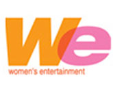 WE- Women's Entertainment logo (Orange and Pink variation)