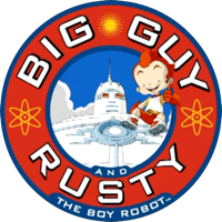 Big Guy and Rusty the boy robot - Title card