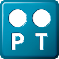 Logo PT azul