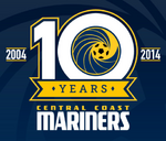Central Coast Mariners logo (10th anniversary)