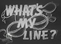Whats my line 1