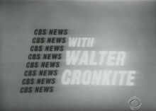 Walter Cronkite with the News