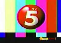 TV5 3D logo on screen bug Test Card