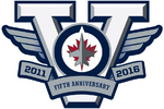 Winnipeg Jets logo (5th anniversary)