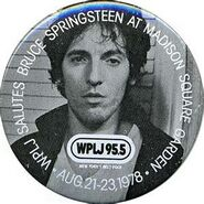 WPLJ-FM's 95.5's Salutes Bruce Springsteen, Live In Concert At Madison Square Garden Promo For August 1978