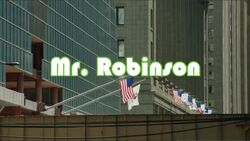 Mr. Robinson Intertitle