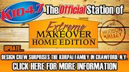 WSPK-FM's K104's Your Extreme Makeover Home Edition Station Logo From August 2011
