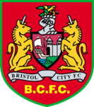 Bristol City FC logo (1998-1999, away)