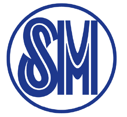 Sm Negative Space Letter Logo Blue Stock Vector Illustration ...