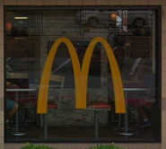 McDonald's window logo (688 8th Avenue NYC variant)