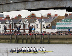 Boat Race at Barnes Bridge 2003 - Oxford winners