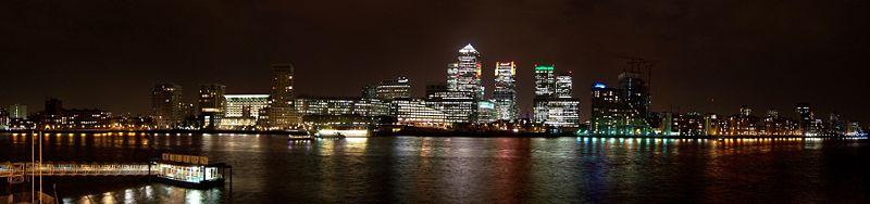 Canary Wharf Panorama Night