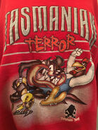 Vintage Taz Tazmanian devil long sleeve top shirt jumper SWEATshirT large