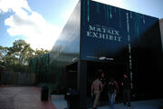 The Official Matrix Exhibit entrance