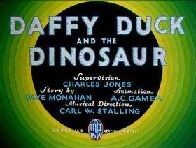 Daffyduckandthedinosaur