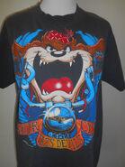 Vintage taz motor cycle t shirt Tasmanian Devil black clothing clothes