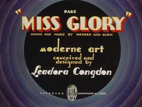 Page Miss Glory cartoon title card