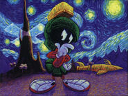 Wallpaper Looney Tunes Marvin Martian VanGough-1-1024x768