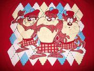 Tasmanian Devil TAZ T tee Shirt 2XL XXL 1995 Looney Tunes Scottish Golf