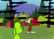 Bugs gossips to marvin about K-9